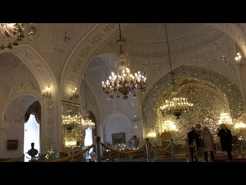 Tehran Iran Golestan Palace Inner Decorations