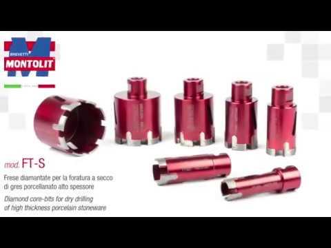 Udestående FT-S diamantbor til tykke fliser - Montolit - YouTube GA86