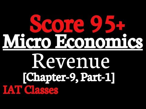 Micro Economics Revenue || Class 12th chapter 9||Part 1||