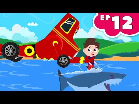Flying Shark Vs Red Super Car Ricky | Kids Cartoon Songs & Rhymes Episode 12