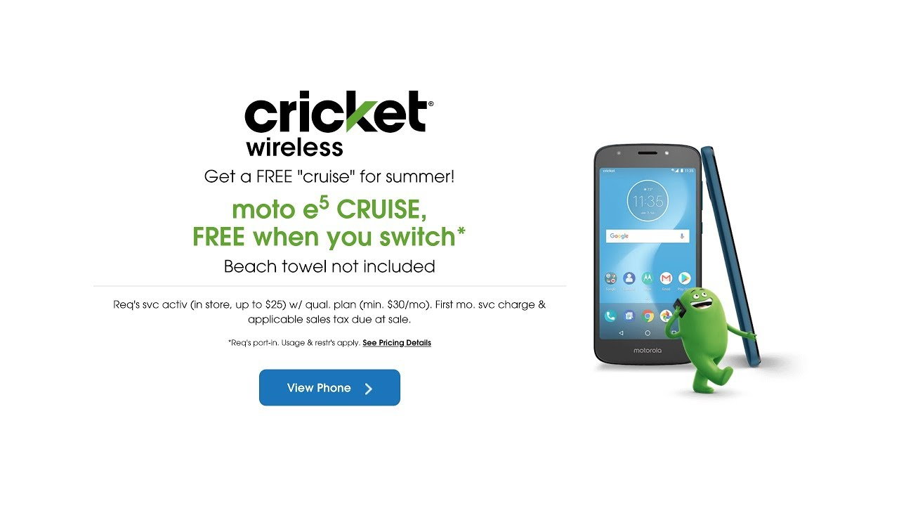 Cricket Wireless Get A Moto E5 Cruise Free When You Switch