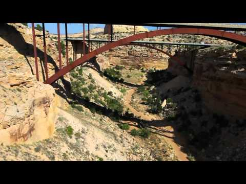 Eagle Canyon Twin Bridges, Interstate 70, San Rafael Swell, Utah
