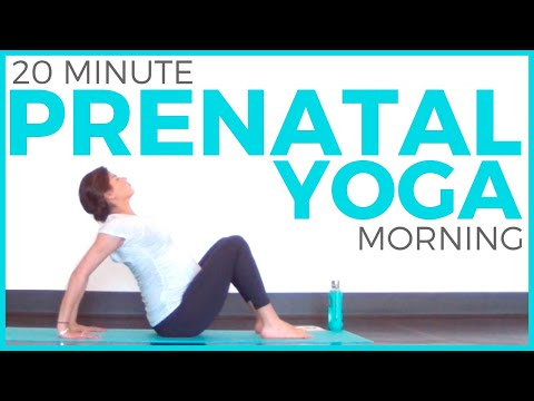 Prenatal Morning Yoga Routine (20 minute Yoga) All Trimester