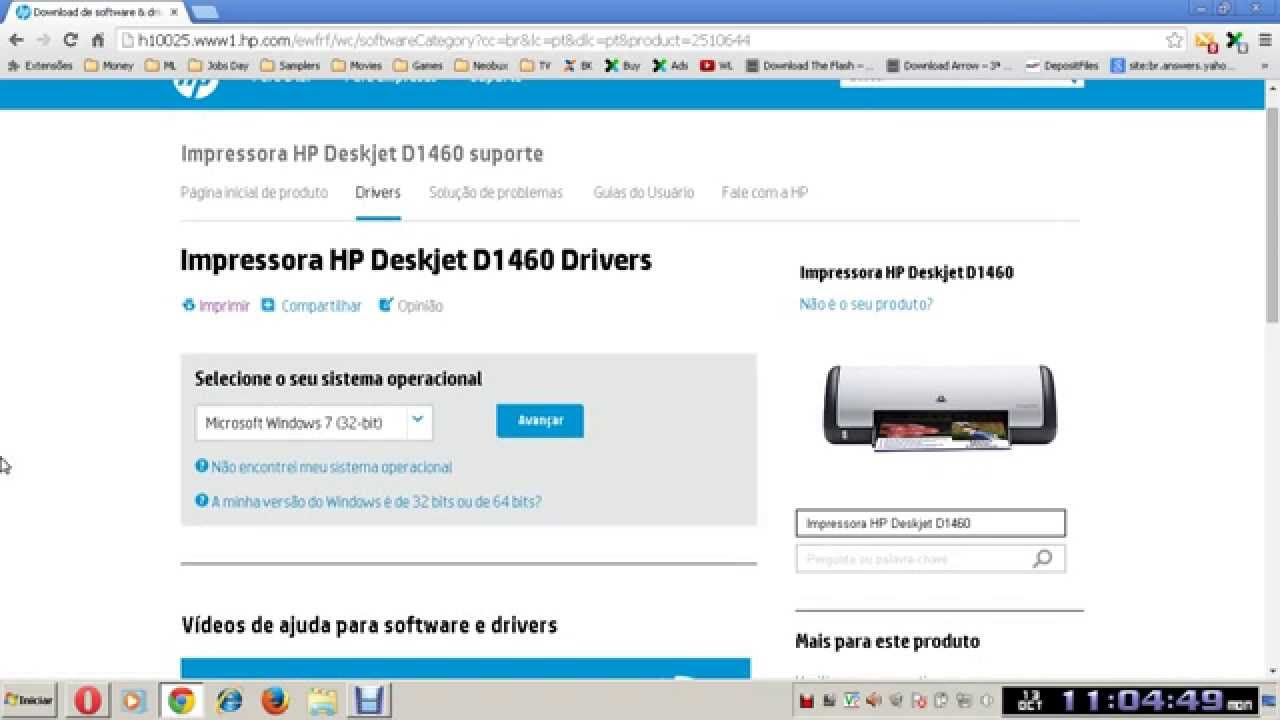 driver hp deskjet d1460 windows 7