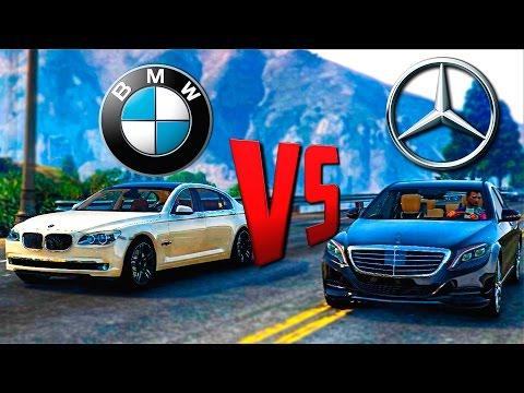GTA Online Моды: Mercedes S500 и BMW 750Li - Настоящие машины!