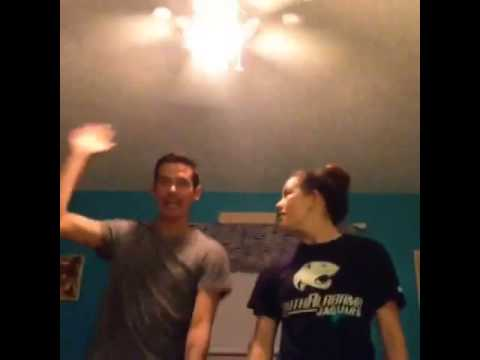Gossip Greg and Sister practicing The Nae Nae