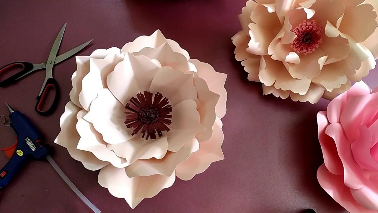 Cara Membuat Giant Paper Flower Bunga Kertas Besar Diy Paper Flower Backdrop Youtube Cara membuat paper flower