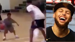 Steph Curry Gets OWNED By TINY TODDLER!