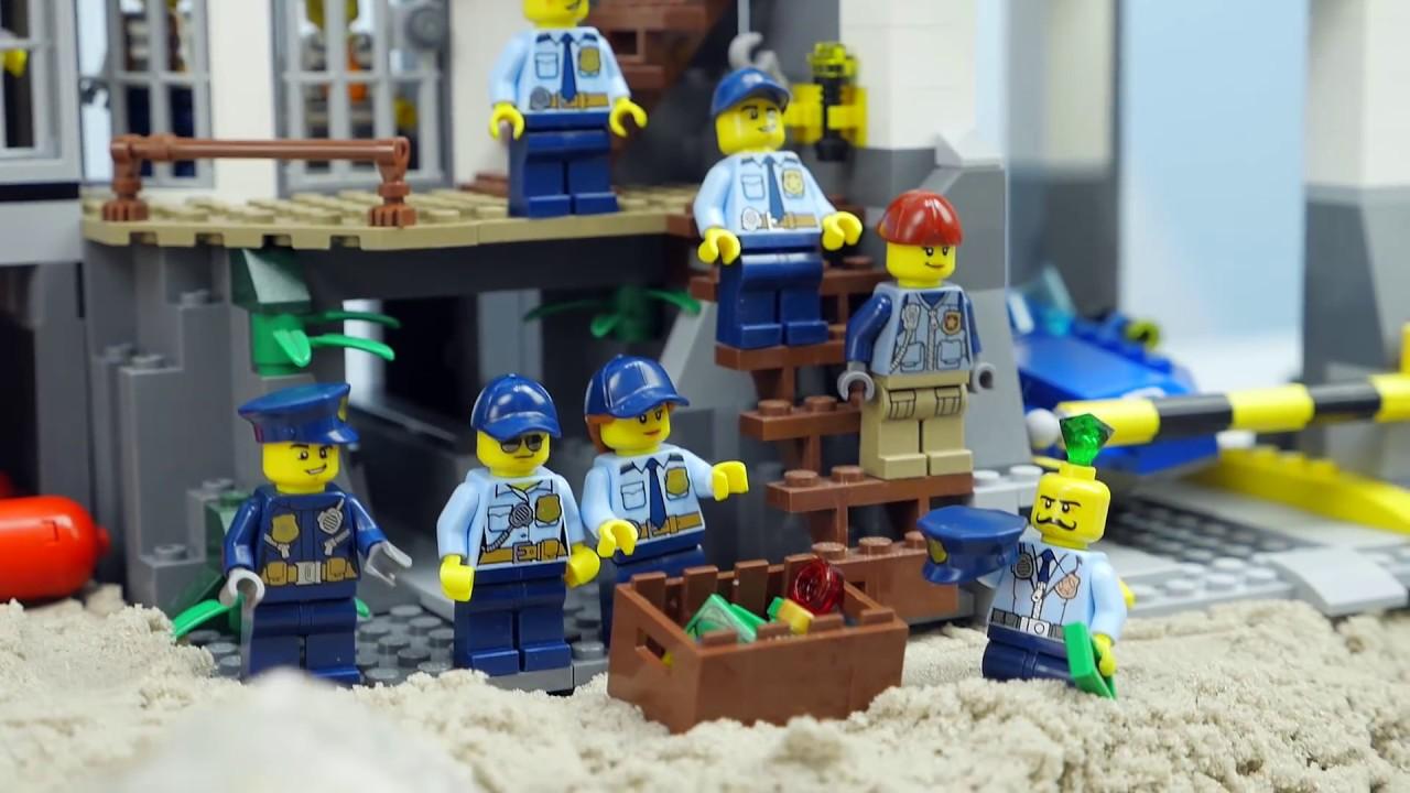 Полиция ЛЕГО СИТИ и побег бандита из секретной тюрьмы. Мультики для детей про LEGO CITY
