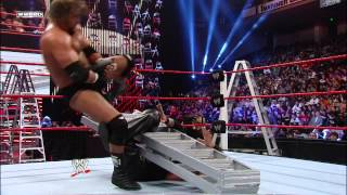 Triple H uses a ladder to help him apply the Figure Four on Kevin Nash: WWE TLC 2011