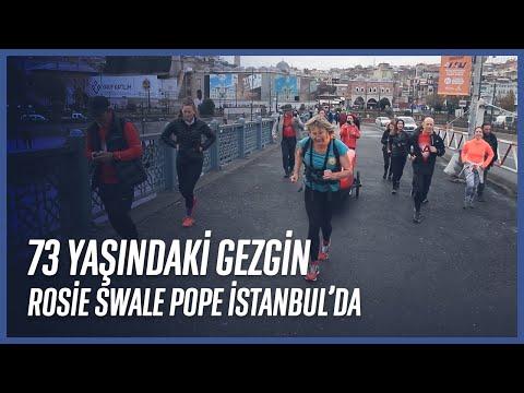 73 Yaşındaki Gezgin Rosie Swale Pope İstanbul'da