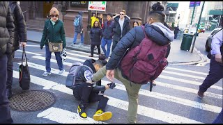 Drop kicking people in public (Social Experiment)