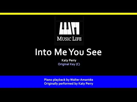 Into Me You See (Katy Perry) - Piano playback for Cover / Karaoke