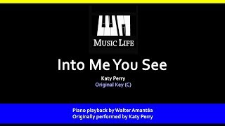 Into Me You See Katy Perry Piano Playback For Cover Karaoke