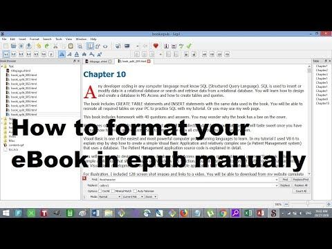 How To Format EBook In Epub Format By Editing The Epub HTML Script