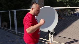 Налаштування двох супутників на одну антену без центрального конвертера (75Е + 90ТІ)