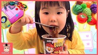 뽀로로 짜장면 먹고 싶어요! 미니 유니 똘똘이 주방놀이 요리놀이 장난감 놀이 Pororo Noodle Kids Toys | 말이야와아이들 MariAndKids