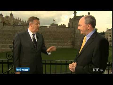 President Michael D. Higgins & Queen Elizabeth greet Peter Robinson & Martin McGuinness