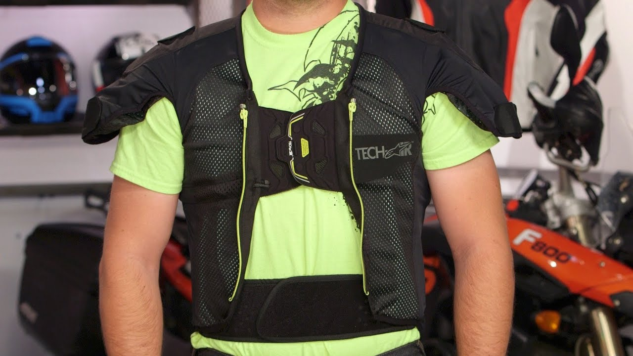 alpinestars tech air airbag vest system review at youtube. Black Bedroom Furniture Sets. Home Design Ideas