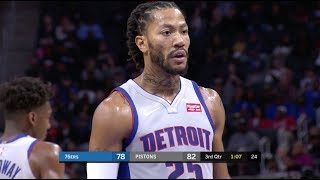 Derrick Rose Gets MVP Chants At Free-Throw Line In Detroit