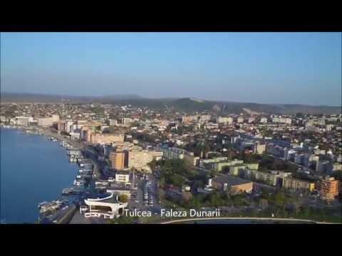 Tulcea si Lacul Ciuperca filmare aeriana, primavara 2012