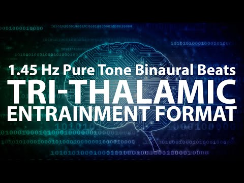 [ONE HOUR] 1.45 Hz Tri-Thalamic Entrainment Format | Pure To