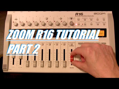 Zoom R16: Mixing and Mastering and transfer from SD Card
