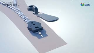 Self-assembly Zipper Slider kit, zipper All kinds of Manufacture long chain zipper
