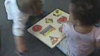 Shape puzzle with playmate