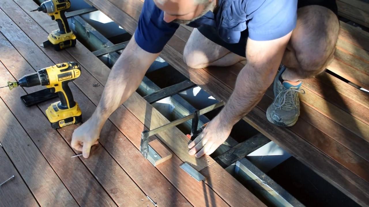 How to Straighten Bent or Bowed Decking Boards, Hardwood Decking, Crooked  decking, Kwila