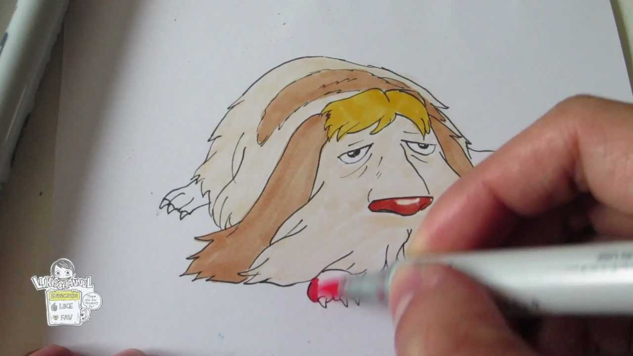 How to draw dog Heen from Howl's Moving Castle - YouTube
