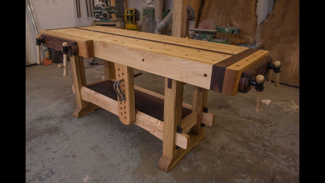 Woodworking, The Samurai Workbench - YouTube