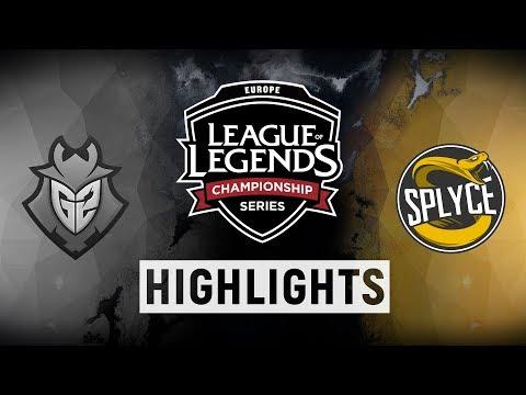 G2 vs. SPY - EU LCS Week 1 Day 2 Match Highlights (Summer 2018)