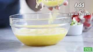 Recipe: Asparagus & Crab Crustless Quiche