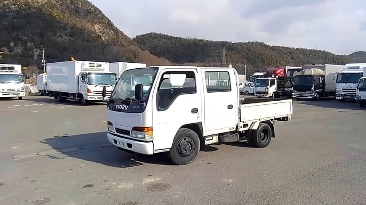 f7b8e1337b USED TRUCK-ISUZU ELF Double cabin 4WD - YouTube
