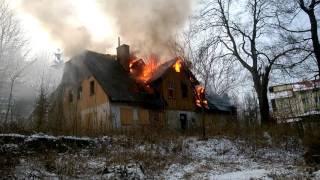 Szklarska Poręba : Pożar opuszczonego domu