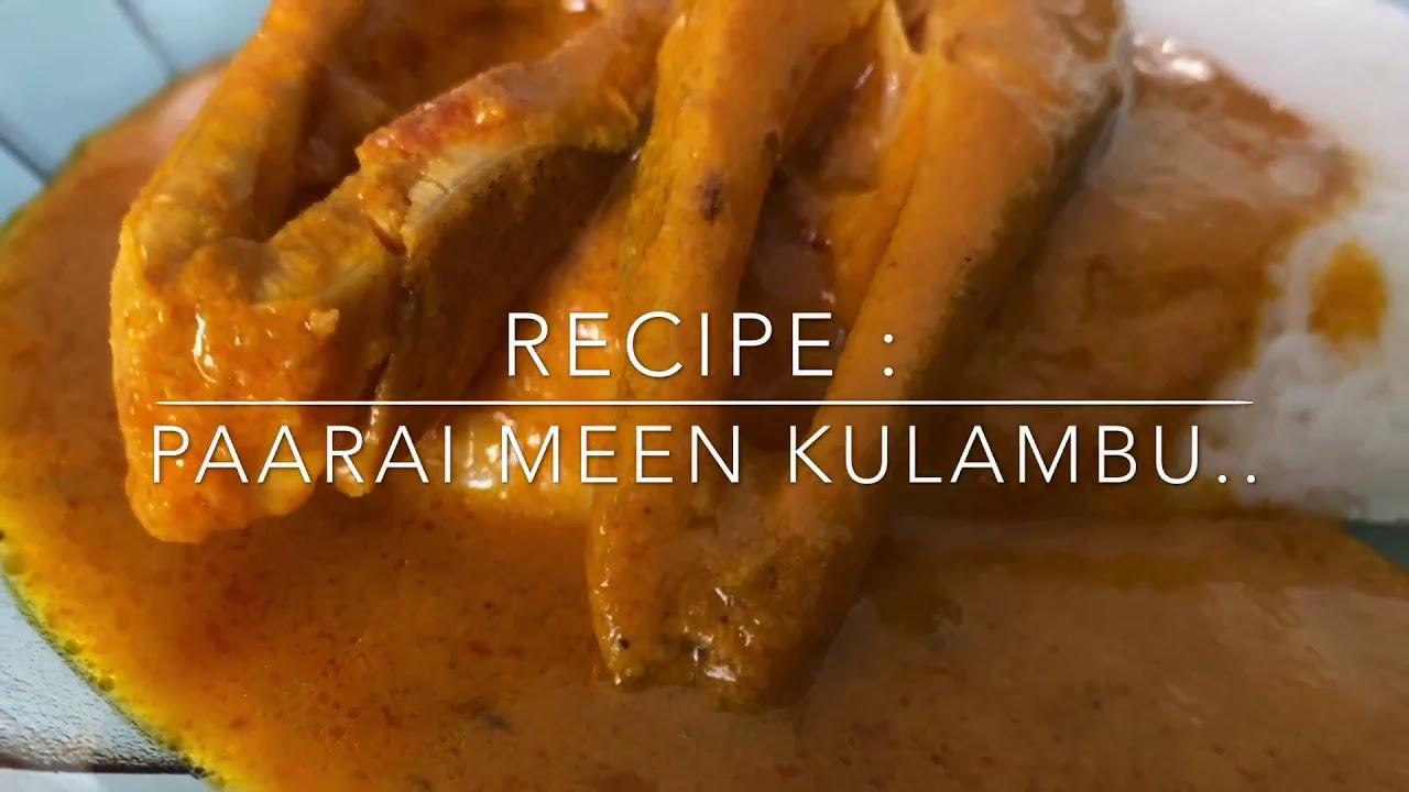 Paarai Meen Kulambu   Fish Curry Recipe   Lockdown Easy Recipe   Gu Gu's Kitchen