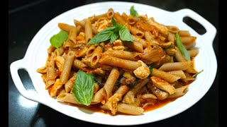 Chicken Tomato Mushroom Pasta - Chicken Tomato Fresh Basil Pasta Sauce - Youtube