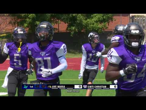 Cincinnati Christian University vs Ave Maria Football Game o