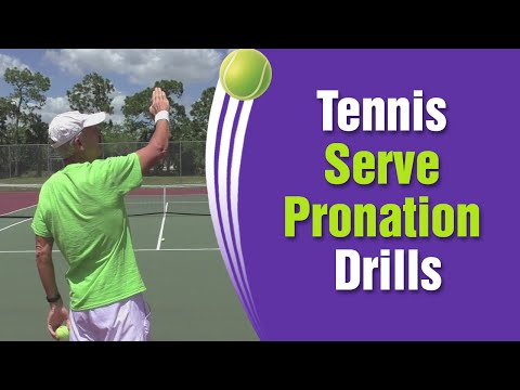 Tennis Serve Pronation Drills & Tips - Slow Motion Explaination