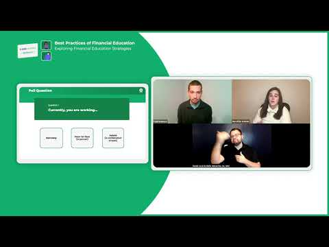 Webinar #2 - Exploring Financial Education Strategies