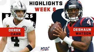 Derek Carr vs. Deshaun Watson 3-TD Duel | NFL 2019 Highlights