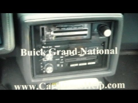 Buick Grand National Car Stereo Removal