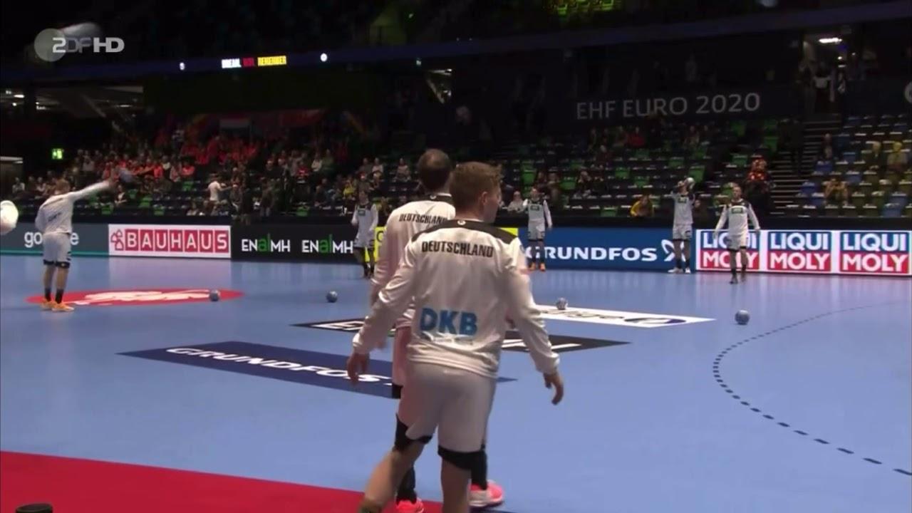 Handball Em 2020 Zdf Reporter Wird Von Ball Getroffen