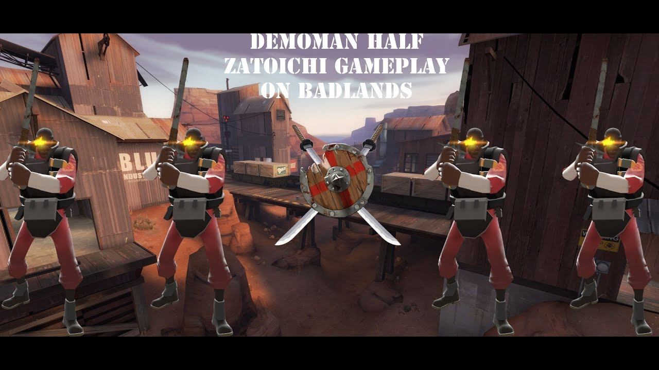 Tf2 Hd Demoman Half Zatoichi Charge N Targe Gameplay On