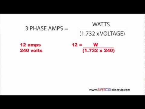 3 Phase Amp Equation