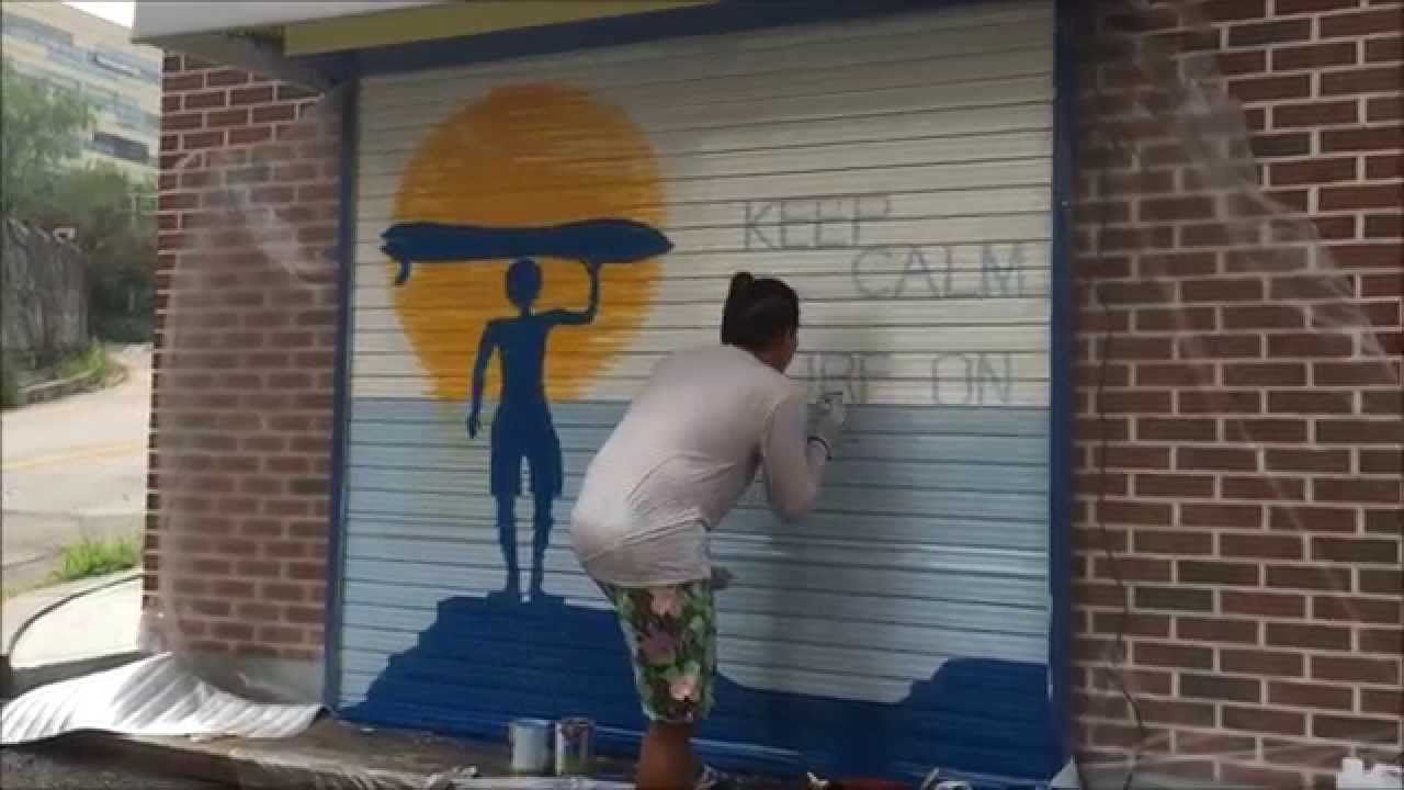 Painting A Shutter Door Youtube