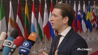 Austrian leader: Must avoid no-deal Brexit scenario