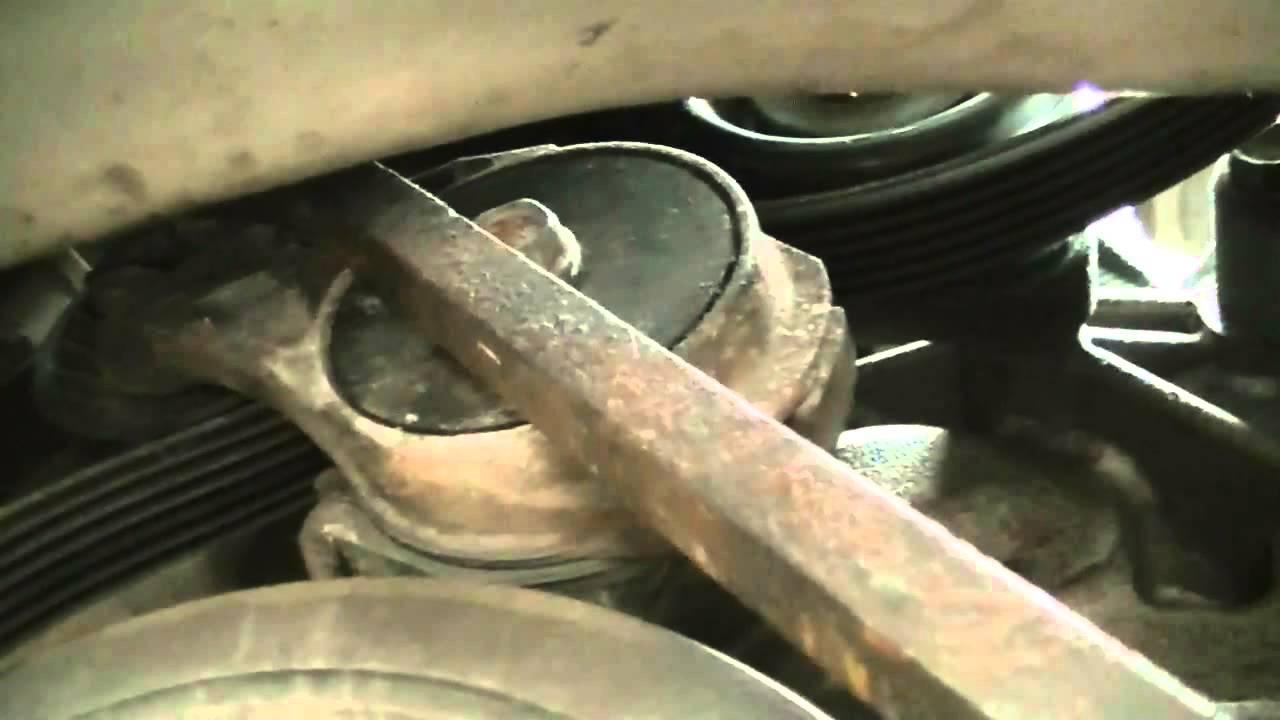 medium resolution of dodge caravan tensioner pully replace