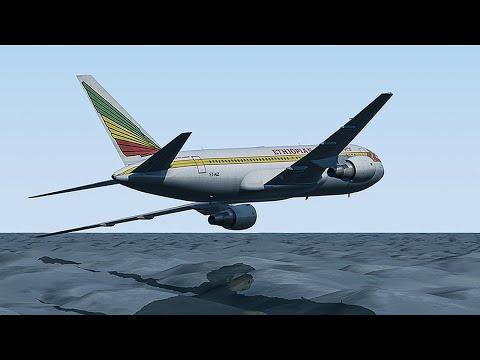 Desperate Escape | Boeing 767 Crash Lands Into The Ocean | Ethiopian Airlines Flight 961